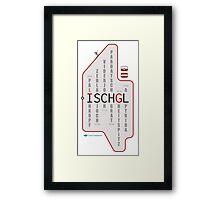 ISCHGL Matrix Framed Print