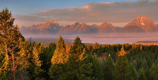 Grand Teton Morning by Stephen Vecchiotti