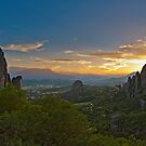 Sunset in Meteora  by Konstantinos Arvanitopoulos
