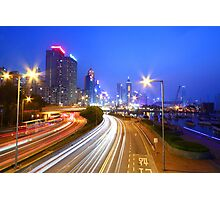 Traffic in Hong Kong downtown area Photographic Print