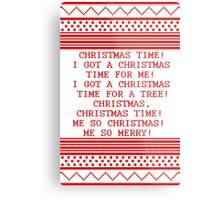 Britta Christmas sweater Quote Metal Print