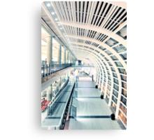 Corridor in airport Canvas Print