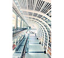 Corridor in airport Photographic Print