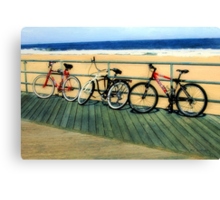 Boardwalk Bicycles Canvas Print