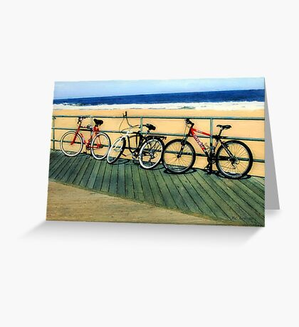 Boardwalk Bicycles Greeting Card