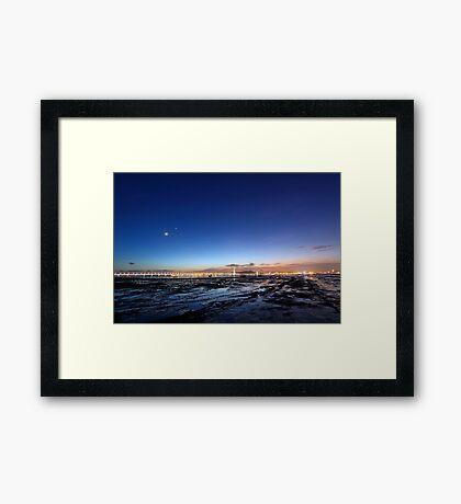 Sunset coast Framed Print