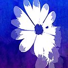 Daisy Burst Retro in Blue by Patricia L. Walker
