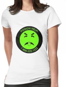 Retro Mr.Yuk poison Womens Fitted T-Shirt