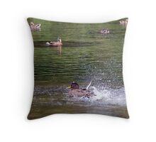 Duck Splashing - Ottawa Ontario Throw Pillow