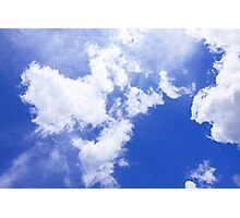 Blue sky background Photographic Print