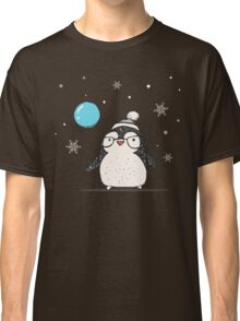 Christmas Penguin Balloon Classic T-Shirt