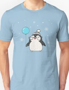 Christmas Penguin Balloon Unisex T-Shirt