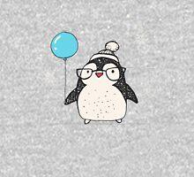 Christmas Penguin Balloon Womens T-Shirt