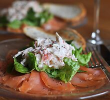 Smoked Salmon and Crab Salad by Heather Thorsen