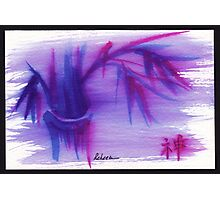 Lilac Mist - watercolor zen bamboo painting Photographic Print