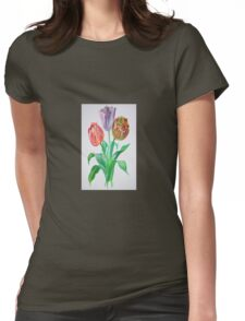 Tulip Trio Womens Fitted T-Shirt