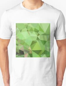 Dollar Bill Green Abstract Low Polygon Background T-Shirt