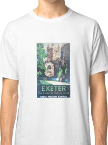 Exeter the Centre for Tours in Devon Classic T-Shirt