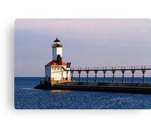 Michigan City, Indiana Light at Dawn Canvas Print