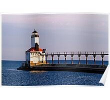 Michigan City, Indiana Light at Dawn Poster