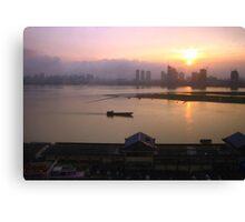Sunset in Nanchang, Jiangxi Canvas Print