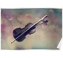Violin Texturized Poster
