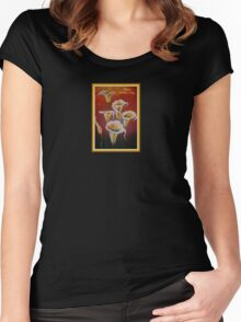 White Calla Lilies Happy Mother's Day Greetings Women's Fitted Scoop T-Shirt