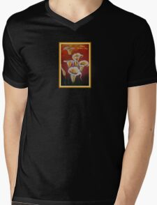White Calla Lilies Happy Mother's Day Greetings Mens V-Neck T-Shirt
