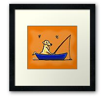 Yellow Lab Fishing Trip Framed Print