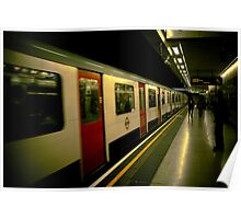 Down in the London underground Poster