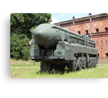 mobile missile launcher Canvas Print