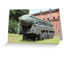 mobile missile launcher Greeting Card