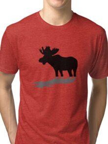 Moose at lake Tri-blend T-Shirt