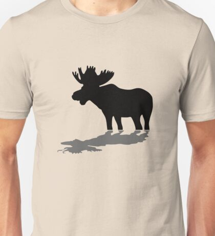 Moose at lake Unisex T-Shirt