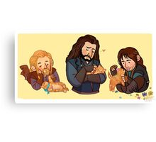 The Durins and the Kitten Canvas Print