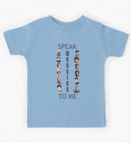 Doctor Who - Speak whovian to me Kids Tee