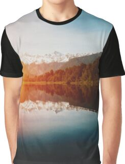 Lake Matheson Graphic T-Shirt