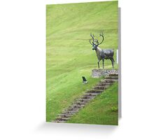 Deer at Kittoch Mill, Busby Glasgow Greeting Card