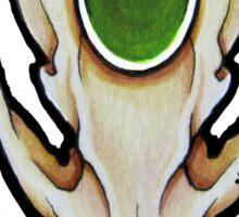 Emerald Fox Skull Sticker