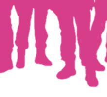 Big damn intergalactic space heroes. (Clothing/pink design) Sticker