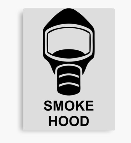 Emergency Escape Mask (or Smoke Hood, or Gas Mask) Sign Canvas Print