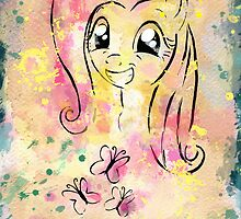 Poster: Fluttershy by Han Zhao