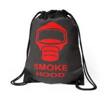Emergency Escape Mask (or Smoke Hood, or Gas Mask) Sign Drawstring Bag