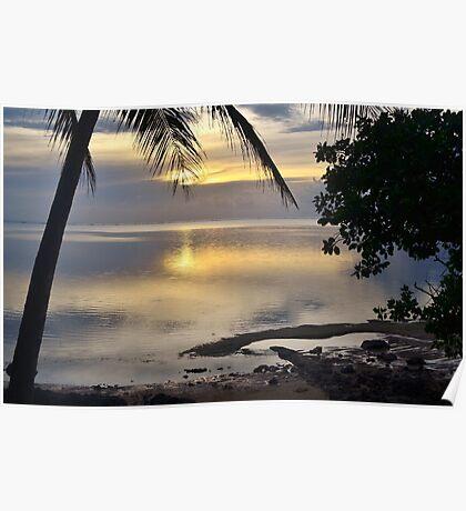 Melekeok Palau Sunrise Poster