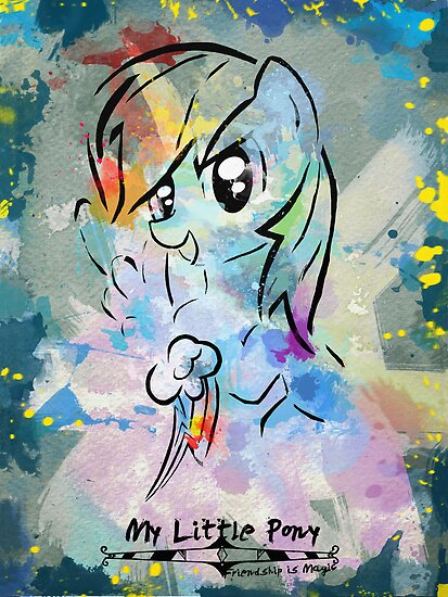 Poster: Rainbow Dash by kimjonggrill