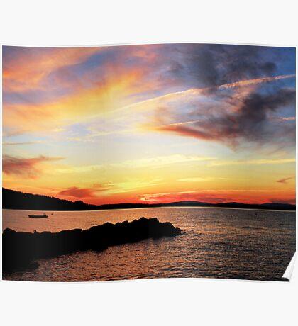 Sunset Lake Winnipesaukee 6-9-12 Poster