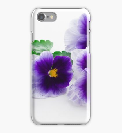 beautiful purple pansy  iPhone Case/Skin