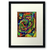 Owl on psychedelics Framed Print