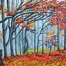 Forest edge in fall by Dan Wilcox