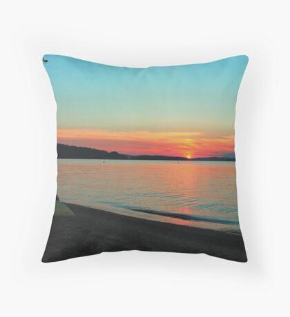 Sunset Lake Winnipesaukee 6-9-12 #3 Throw Pillow